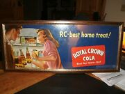 Rc Royal Crown Cola Carboard Advertisement Framed