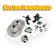 Vw Front 2.5 Dropped Lower Spindle Disc Brake Conversion Kit 5 X 4 3/4 Chevy