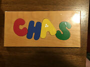 Handmade Usa Stout Sprout Wood Name Puzzled Board Chas