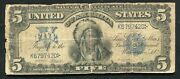 Fr. 275 1899 5 Five Dollars Andldquochiefandrdquo Silver Certificate Currency Note B