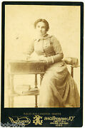 1898 Maud Ballington Booth Signed Cabinet Card Salvation Army Volunteers America
