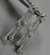 Antique 1.26ct Round Diamond 14kt W Gold Drop Hanging Earrings One Of A Kind