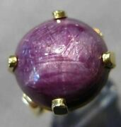 Antique Extra Large 19.95ct Star Ruby Sapphire 14kt Yellow Gold 3d Ring 25648