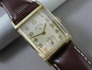 Antique 14kt Yellow Gold Lord Elgin Square Mens Watch Absolutely Amazing 21575