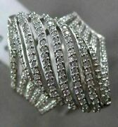 Estate Large 1.92ct Round Diamond 14kt White Gold 3d Marquise Shape Promise Ring