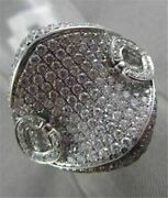 Antique Massive 2.25ctw 18kt White Gold Heart Diamond Ring One Of A Kind