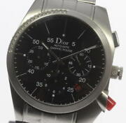 Dior Chiffre Rouge Cd084612 Chronograph Automatic-winding Black Waterproof Watch