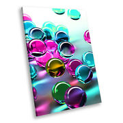 Pink Blue 3d Marbles Portrait Abstract Canvas Wall Art Large Picture Prints