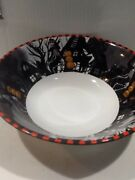 222fifth Bicycle Skeleton Halloween New Serving/ Candy Bowl Goes Dapper Skeleton