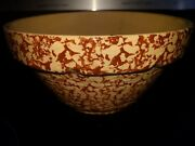 Vintage 10 Robinson-rainsbottom Rrp Co Spatter Ware Mixing Bowl