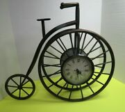 High Wheeler Antique Style Large Bicycle Clock 16 X 19 Tested Clock Works