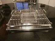 Gorgeous Silverplate And Acrylic Condiment Center Piece Tray