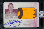 2016 National Treasures Kyle Busch 1/1 Auto Printing Plate Race-used Material