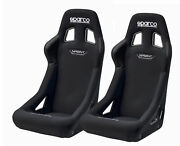 Pair Sparco Sprint Racing Bucket Seat - Black Fabric - Fia Approved