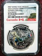 2016 Canada 20 Wwi Aircraft Sopwith Tri-plane Coin Ngc Pf 70 Ultra Cameo Pop=4
