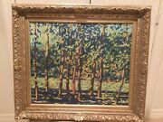 Wooded Landscape By Texas Artist James Busby 20th Century