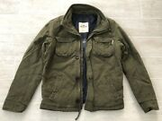 New Hollister By Aandf Menand039s Hammerland Blue Lined Military Jacket Coat - S M