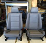 Bmw E30 325i/318i Convertible Front Sport Seat Pair 1987-92 Grey 1500.00