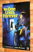 The Operative No One Lives Forever Game Store Promo Poster Ps2 Collectible 2002
