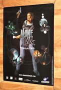 Alone In The Dark The New Nightmare Game Store Promo Poster Ps1 Collectible 2001