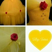 Belle Inspired Tulle Tutu Dress, Beauty And The Beast,fairytale, Princess Dress.