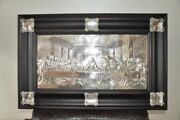 Large Orthodox Silver-plated Icon Last Supper