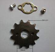 Pitbike 12t 20mm Engine Sprocket For 530 Chain Motorcycle Dirt Bike Atv Parts