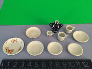 Vintage German Doll Kitchen Porcelain Dishes Frm 1 Family C 1900-1930and039s W/marks