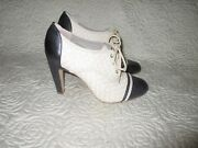 Hinge Woven Leather 4 Heels Ankle Boots Size 9 M