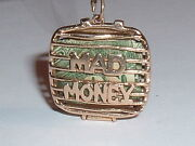 Vintage 14k Gold Emergency Mad Money Purse Pendant Charm