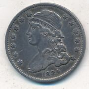 1834 Capped Bust Silver Quarter-very Nice Circulated Quarter-ships Free