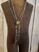 4 Antique Italian Glass Rosary Beads Rosaries Italy