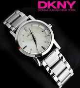 Dkny Women's Collection Silver Mother Of Pearl Watch Ny4519