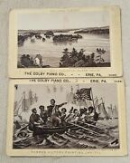 Lot Of 2 Victorian Trade Cards Colby Piano Co Erie, Pa Ohio Agents/dealers Rare