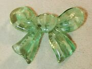 Vintage Green Lucite Bow Lapel Pin Brooch Reverse Carved Jewelry 1940s