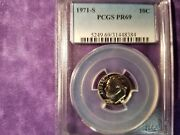 1971-s Roosevelt Dime 10andcent Pcgs Pr69 5249.69/31448384