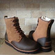 Ugg Hannen Tl Chestnut Brown Waterproof Leather Work Boots Shoes Size Us 7 Mens