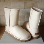Ugg Classic Short Cashmere Pearl Water-resistant Leather Boots Size Us 7 Womens