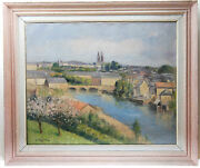 Georges Frederic Morvan Huile Sur Toile/ Oil On Canvas Signed G.f.morvan