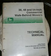 John Deere Technical Manual For 38,48, And 54 Commercial Walk Behind Mowers