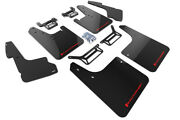 Rally Armor Mud Flaps Guards W/liner Cover For 12-19 4runner Black W/red Logo