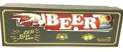Beer Sold Here, Vintage Style W/ Led Lights And Directional Finger Point Sign Nib