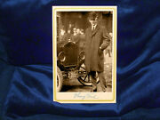 Henry Ford Automaker Industrialist Cabinet Card Photograph Vintage Autograph