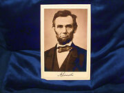 Abraham Lincoln Martyr President Cabinet Card Photograph History