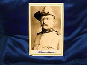 Theodore Teddy Roosevelt Cabinet Card Photograph Vintage Autograph