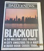 8/15/2003 - Orig Ny Newspaper - 2003 Nyc Blackout Over 50 Million Lose Power