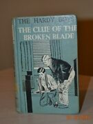 1942 The Hardy Boys 21 The Clue Of The Broken Blade