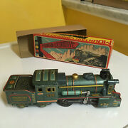 Sss Friction Driven, Tin, Mountain Locomotive With It's Original Box. Working