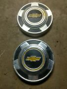 1973 - 1987 Chevy Center Caps Dog Dish 10.5 Inch Pair