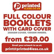 Brochures Booklets Printed Full Colour Order Of Service A4 A5 130 135 250 Gsm